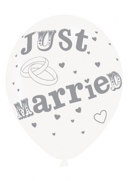 Just Married Latex Balloons